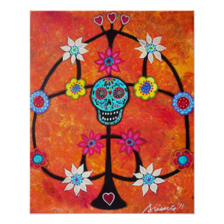 TREE OF LIFE DAY OF THE DEAD CANDLE HOLDER POSTERS POSTERS