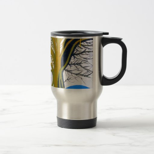 Tree of Life  Death by Matthew Hunzeker 15 Oz Stainless Steel Travel Mug