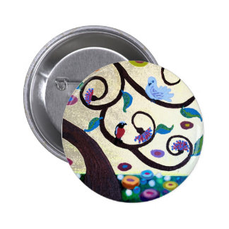 Tree of life detail 2 inch round button