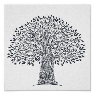 Tree Of Life Doodle 2 Poster