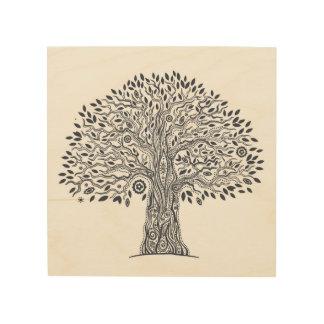 Tree Of Life Doodle 5 Wood Wall Decor