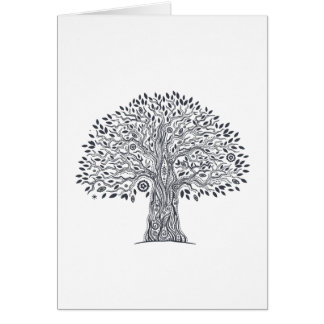 Tree Of Life Doodle Card