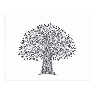 Tree Of Life Doodle Postcard