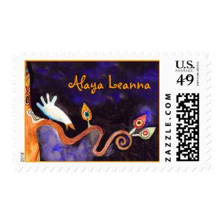Tree of Life Doves Bar Bat Mitzvah Invitation Postage Stamps