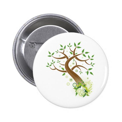Tree of Life ~ Earth Mother Tree Pinback Button