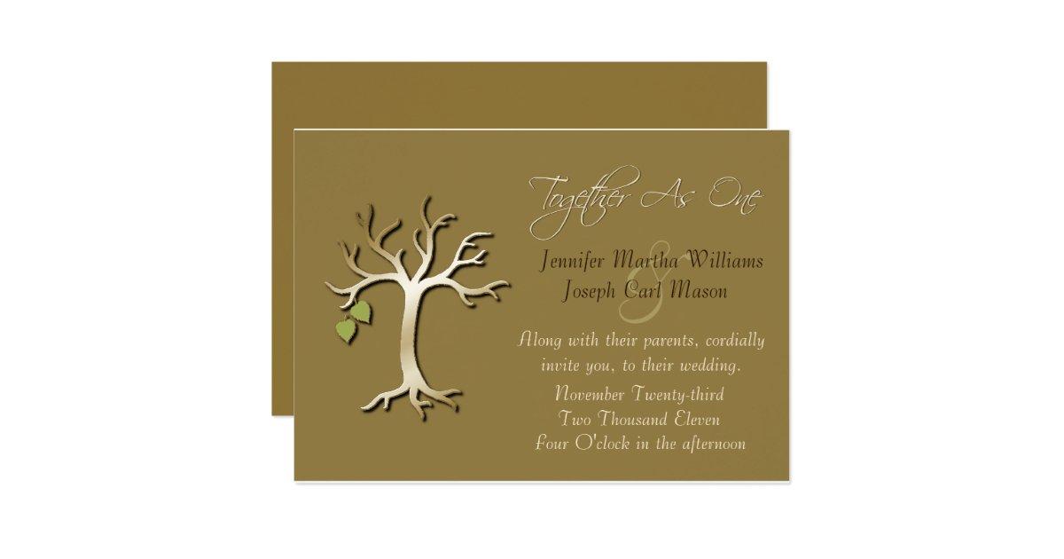 Tree of Life Elegant Fall Wedding Invitation   Zazzle