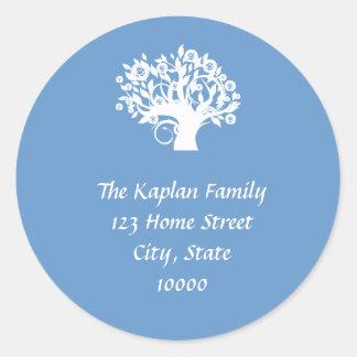 Tree of Life Envelope Seal Bar Bat Mitzvah Wedding Sticker