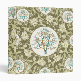 Tree of Life Floral Pattern 3 Ring Binder