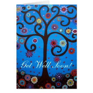 TREE OF LIFE Get Well Soon Cards