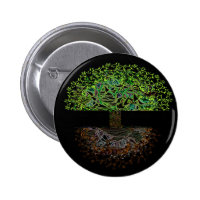Tree of Life Glow Pinback Button