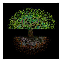 Tree of Life Glow Poster