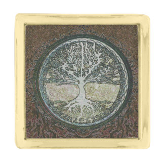 Tree of Life Gold Finish Lapel Pin