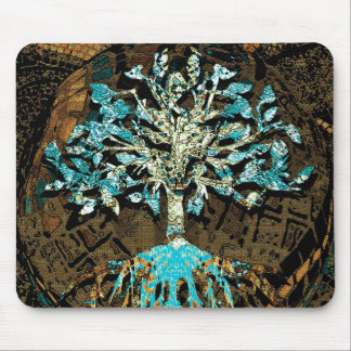 Tree of Life Grounded by Faith Mouse Pad