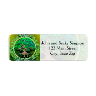 Tree of Life Health and Prosperity Label