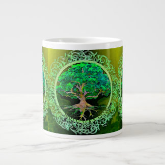 Tree of Life Health and Prosperity Large Coffee Mug