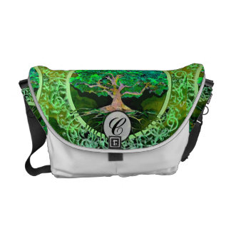 Tree of Life Health and Prosperity Messenger Bag