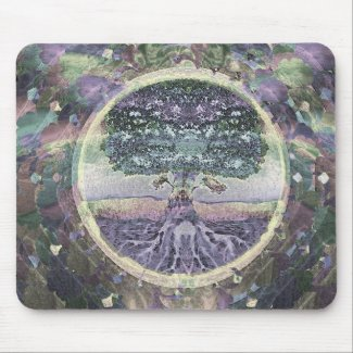 Tree of Life Health and Prosperity Mouse Pad