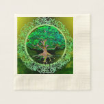 Tree of Life Health and Prosperity Disposable Napkins
