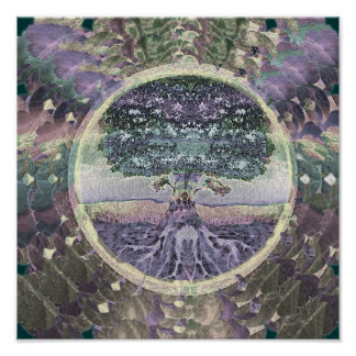 Tree of Life Health and Prosperity Poster