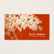 Tree of Life Health and Wellness Orange Nature Business Card