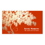 Tree of Life Health and Wellness Orange Nature Double-Sided Standard Business Cards (Pack Of 100)