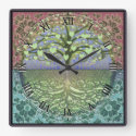 Tree of Life Heart by Amelia Carrie Square Wall Clock (<em>$31.65</em>)
