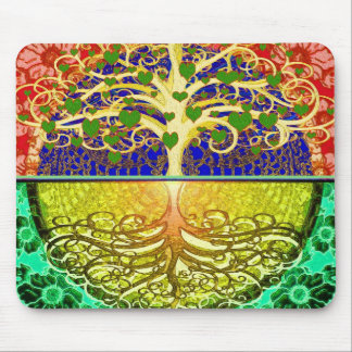 Tree of Life Heart Mouse Pad