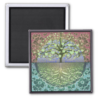 Tree of Life Hearts and Love Magnet
