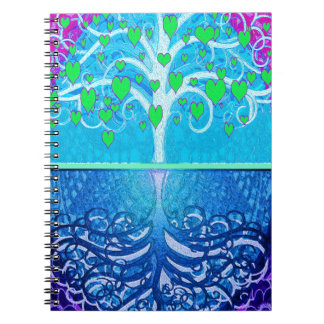 Tree of Life Hearts Note Book