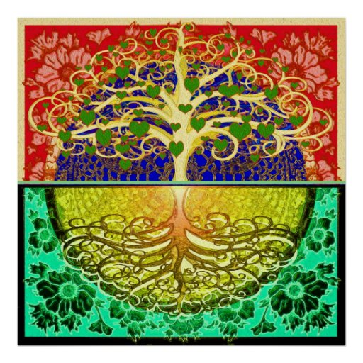 Tree of Life Hearts Posters