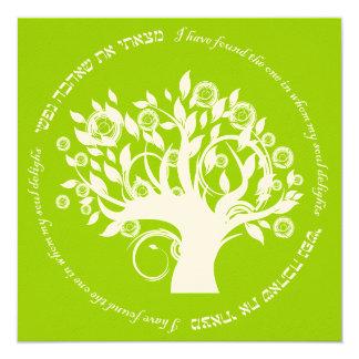 Tree of Life Hebrew Jewish Wedding Green Card