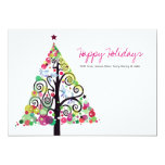 Tree of Life Holiday Family Greeting Card Personalized Invitation