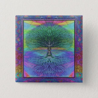 Tree of Life Hope and Peace Pinback Button