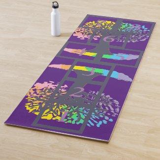 Tree of Life Hopscotch Yoga Mat