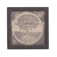 Tree of Life in Brown Keepsake Box