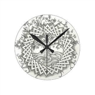 Tree of Life in Celtic Design Wall Clocks