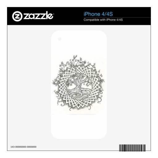 Tree of Life in Celtic Design Decals For The iPhone 4S