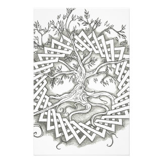 Tree of Life in Celtic Design Stationery