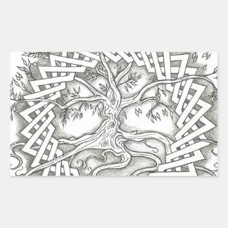 Tree of Life in Celtic Design Rectangular Sticker