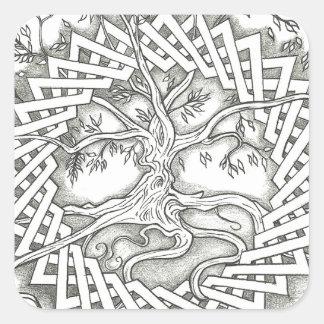 Tree of Life in Celtic Design Square Sticker