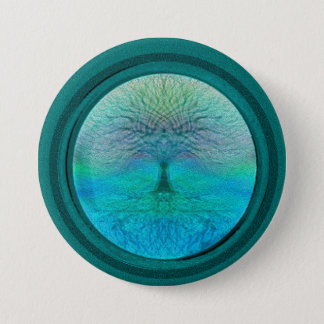 Tree of Life in Green Colors Button