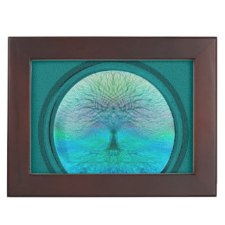 Tree of Life in Green Colors Memory Box