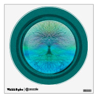 Tree of Life in Green Colors Wall Decal
