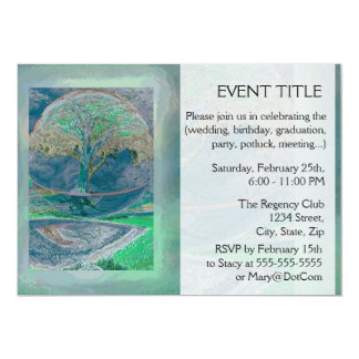 Tree of Life in Pale Green Colors Card
