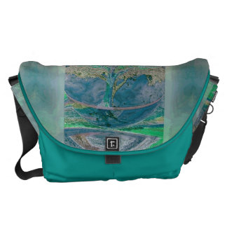 Tree of Life in Pale Green Colors Courier Bag