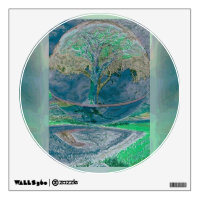 Tree of Life in Pale Green Colors Wall Sticker