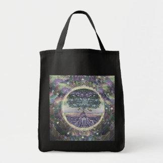 Tree of Life in Rainbow Metal Colors Tote Bag