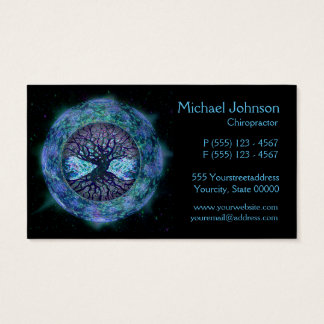 Tree of Life in Space by Amelia Carrie Business Card