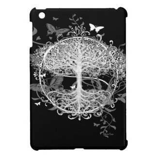 Tree of Life in White with Butterflies iPad Mini Case