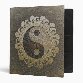 Tree of Life in Yin Yang in Tan Colors 3 Ring Binder